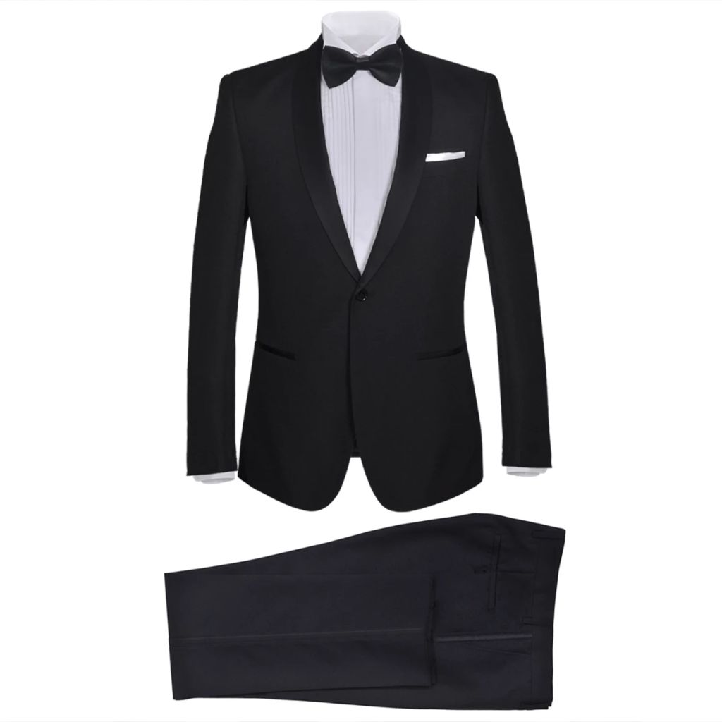 Men's Two Piece Black Tie Dinner Suit/Smoking Tuxedo Size 50