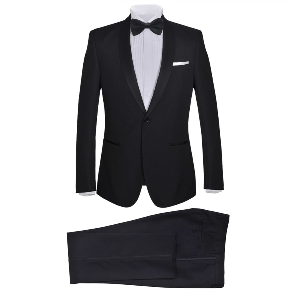 Men's Two Piece Black Tie Dinner Suit/Smoking Tuxedo Size 56