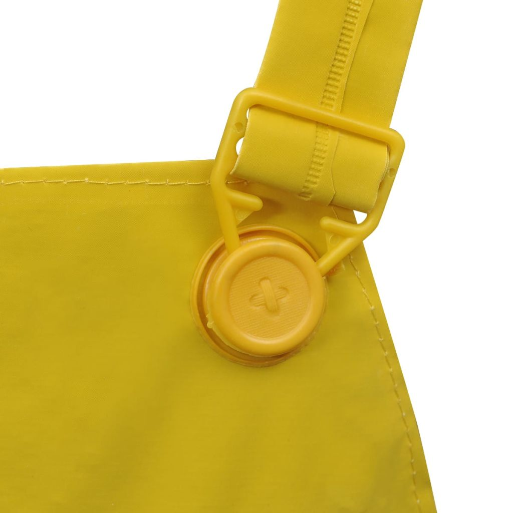 Waterproof Heavy-duty 2-piece Rain Suit with Hood Yellow M
