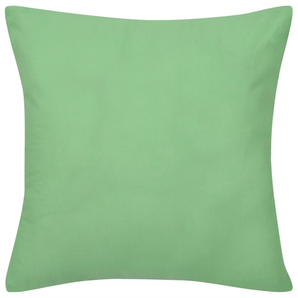 4 Apple Green Cushion Covers Cotton 50 x 50 cm