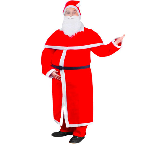 Santa Claus Christmas Costume Robe Set