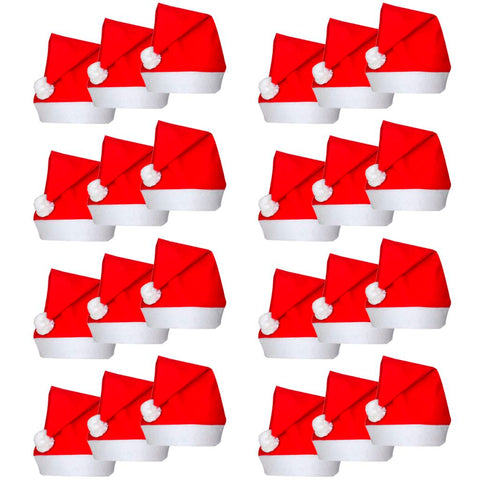 24 Santa Claus Christmas Hats
