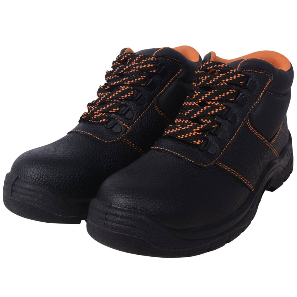 Safety Shoes Black Size 12.5 Leather