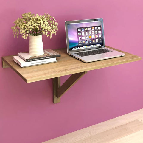 Folding Wall Table Oak 100x60 cm