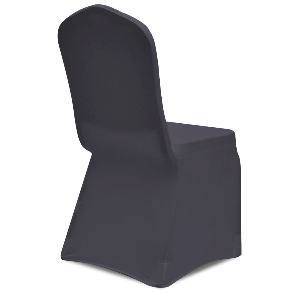 Stretch Chair Cover 6 pcs Anthracite