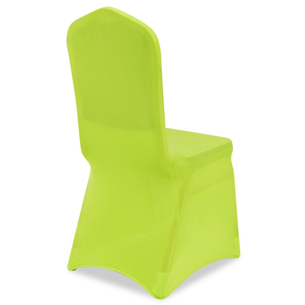 Stretch Chair Cover 6 pcs Green