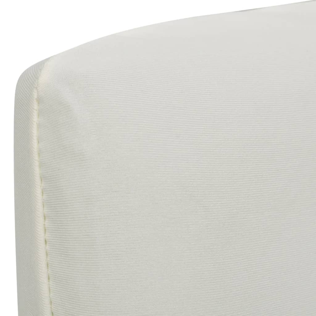 Straight Stretchable Chair Cover 4 pcs Cream