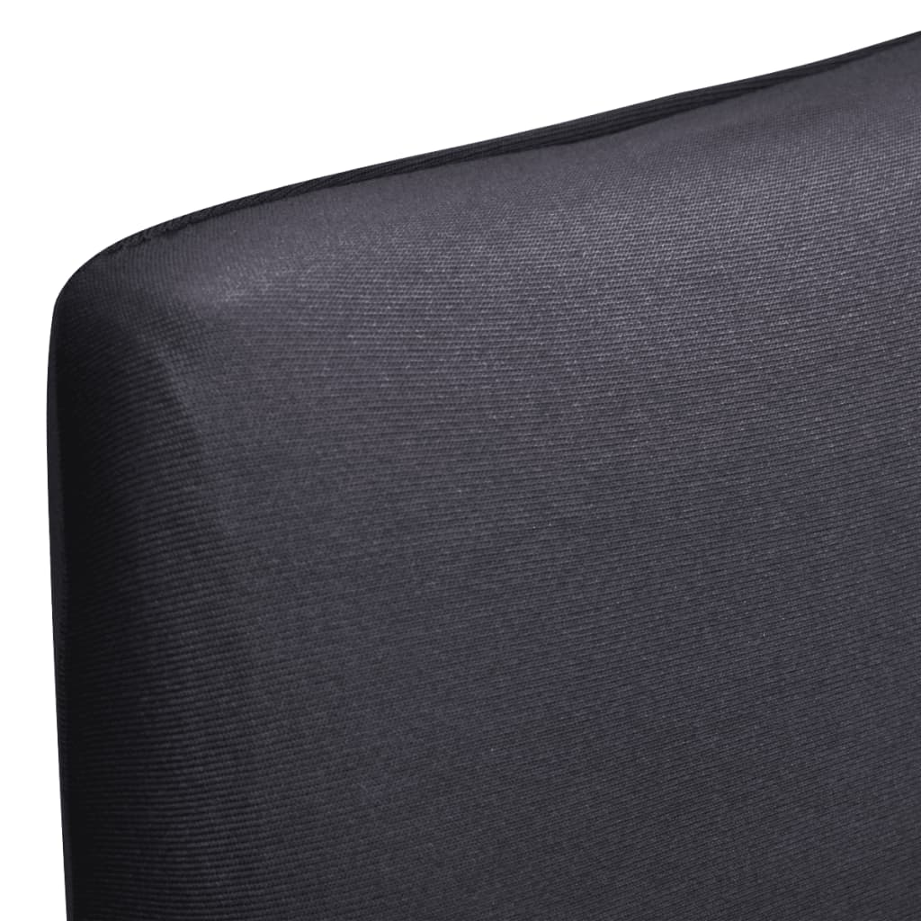 Straight Stretchable Chair Cover 6 pcs Anthracite