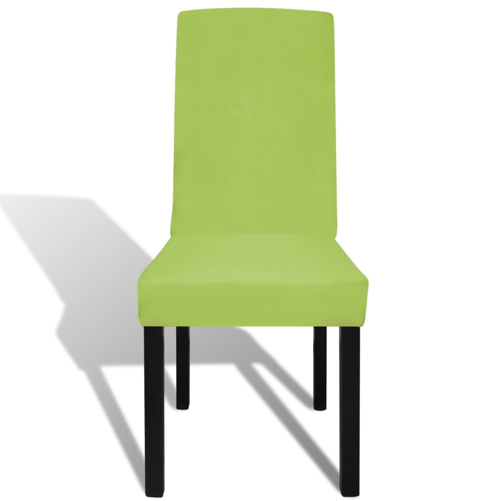 Straight Stretchable Chair Cover 4 pcs Green