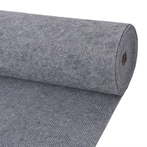 Exhibition Carpet Rib 2x10 m Grey