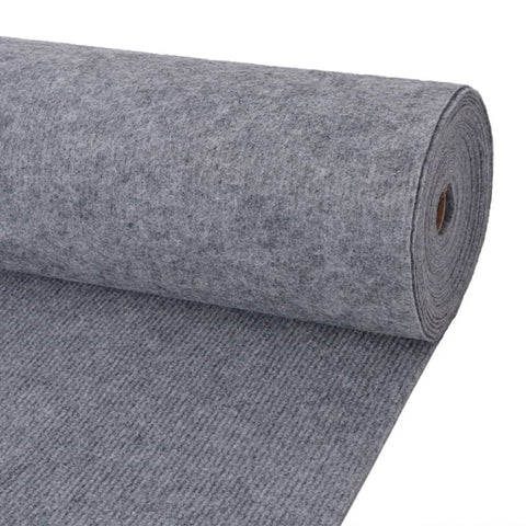 Exhibition Carpet Rib 2x15 m Grey