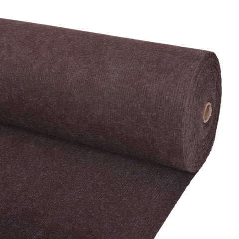 Exhibition Carpet Rib 2x15 m Brown