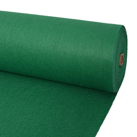 Exhibition Carpet Plain 1x12 m Green