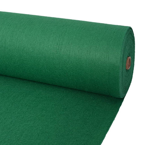 Exhibition Carpet Plain 2x12 m Green