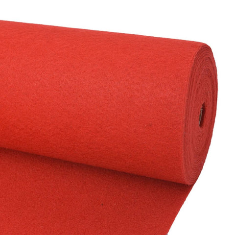 Exhibition Carpet Plain 1x12 m Red