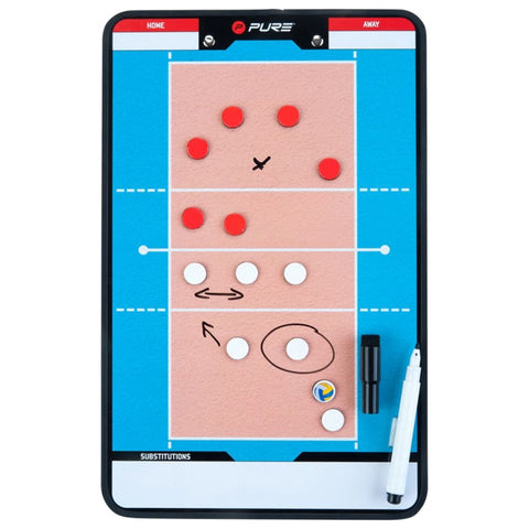 Pure2Improve Double-sided Coach Board Volleyball 35x22 cm P2I100690