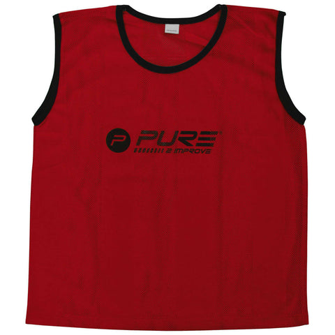 Pure2Improve Training Bibs 4 pcs Senior Red