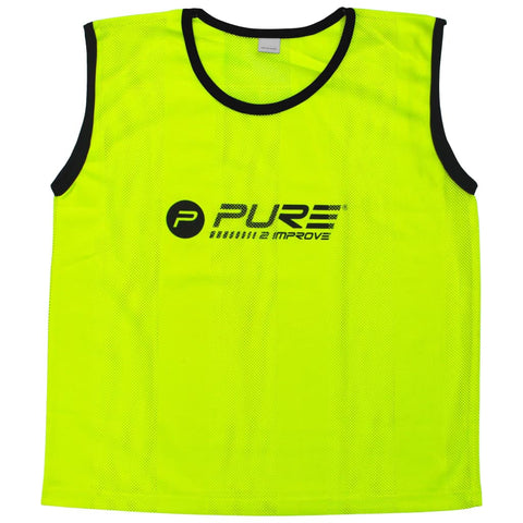 Pure2Improve Training Bibs 4 pcs Senior Yellow