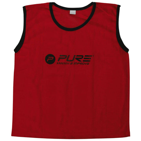 Pure2Improve Training Bibs 4 pcs Mini Red