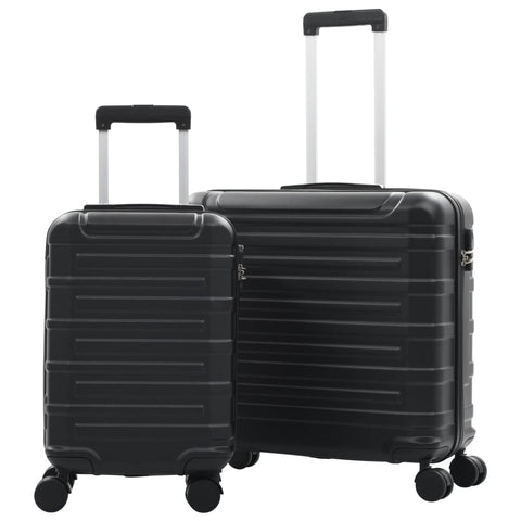 Hardcase Trolley Set 2 pcs Black ABS
