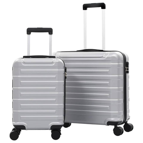 Hardcase Trolley Set 2 pcs Silver ABS
