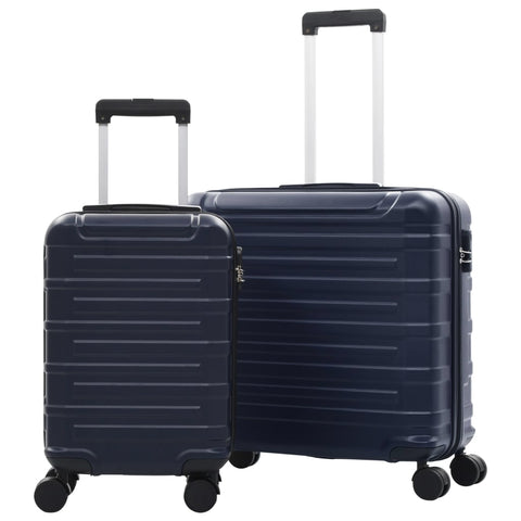 Hardcase Trolley Set 2 pcs Navy ABS