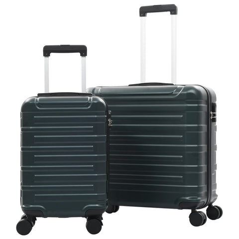 Hardcase Trolley Set 2 pcs Green ABS