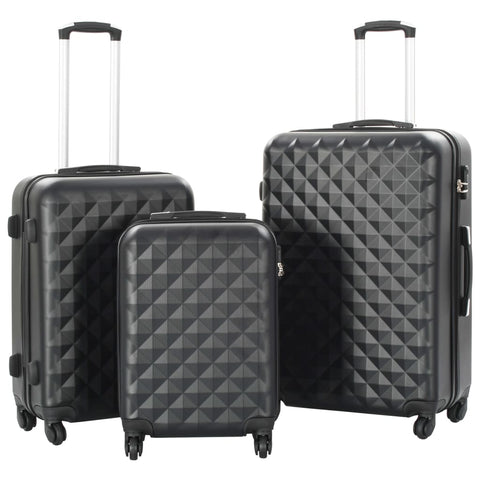 Hardcase Trolley Set 3 pcs Black ABS