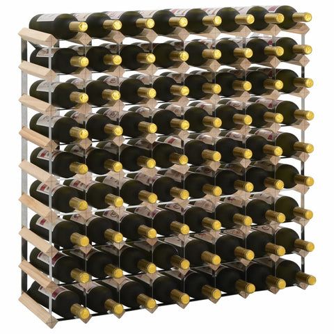Wine Rack for 72 Bottles Solid Pinewood