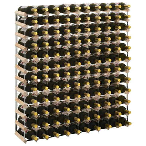 Wine Rack for 120 Bottles Solid Pinewood