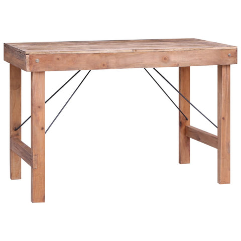 Dining Table 120x60x80 cm Solid Reclaimed Wood