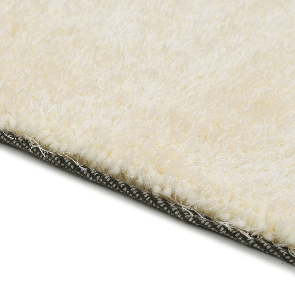 Shaggy Area Rug 140x200 cm Cream