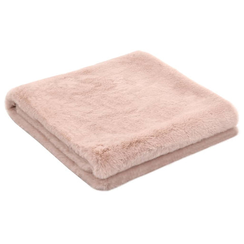 Throw 100x150 cm Faux Rabbit Fur Old Pink