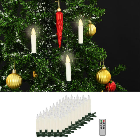 Wireless LED Candles with Remote Control 50 pcs Warm White