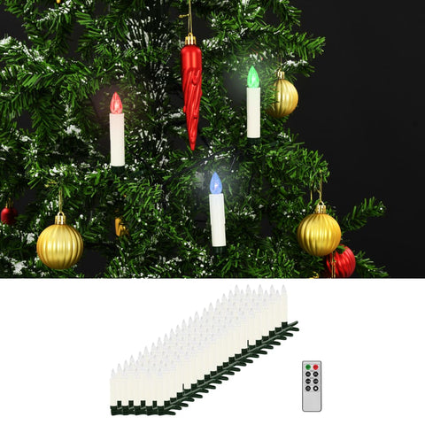 Christmas Wireless LED Candles with Remote Control 100 pcs RGB