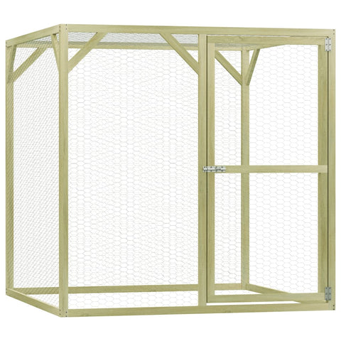 Chicken Cage 1.5x1.5x1.5 m Impregnated Pinewood