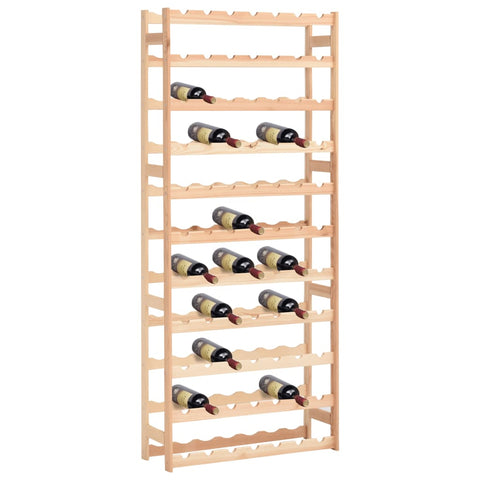 Wine Rack for 77 Bottles Pinewood