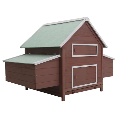 Chicken Coop Brown 157x97x110 cm Wood