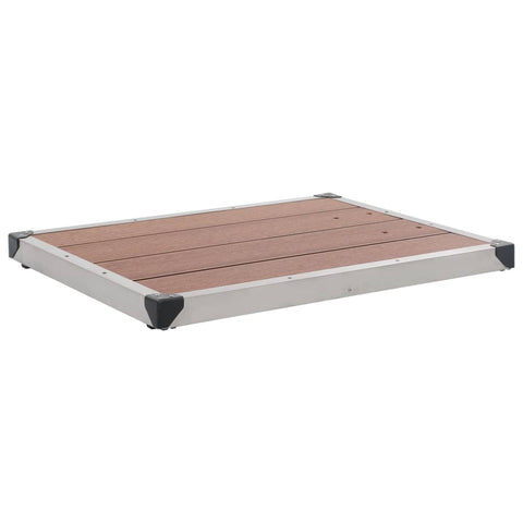 Outdoor Shower Tray WPC Stainless Steel 80x62 cm Brown