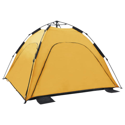 Pop Up Beach Tent 220x220x160 cm Yellow