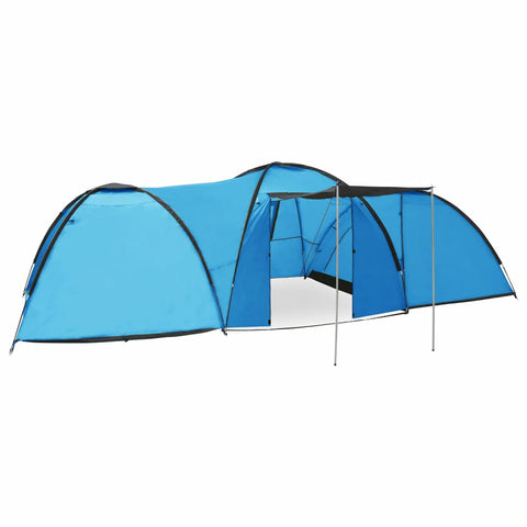 Camping Igloo Tent 650x240x190 cm 8 Person Blue