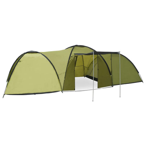 Camping Igloo Tent 650x240x190cm 8 Person Green
