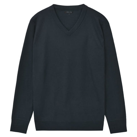 5 pcs  Men's Pullover Sweaters V Neck Navy M