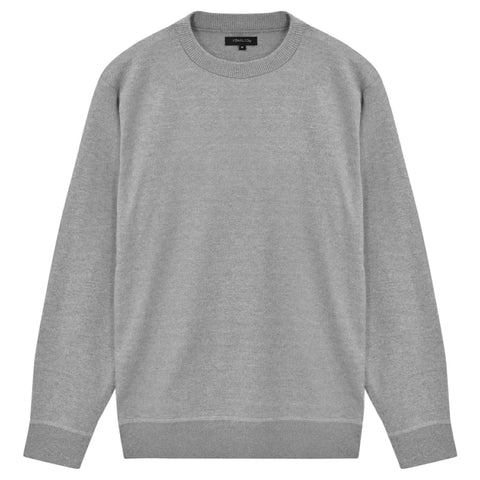 5 pcs  Men's Pullover Sweaters Round Neck Grey XL