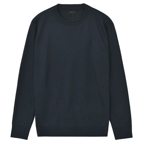 5 pcs  Men's Pullover Sweaters Round Neck Navy XL