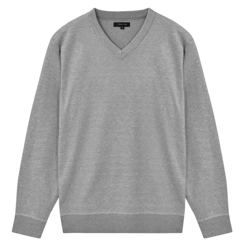 5 pcs  Men's Pullover Sweaters V Neck Grey XXL