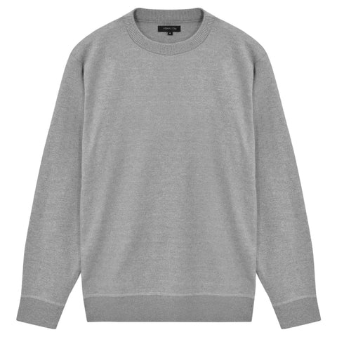 5 pcs  Men's Pullover Sweaters Round Neck Grey XXL