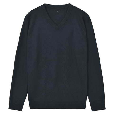 5 pcs  Men's Pullover Sweaters V Neck Navy XL