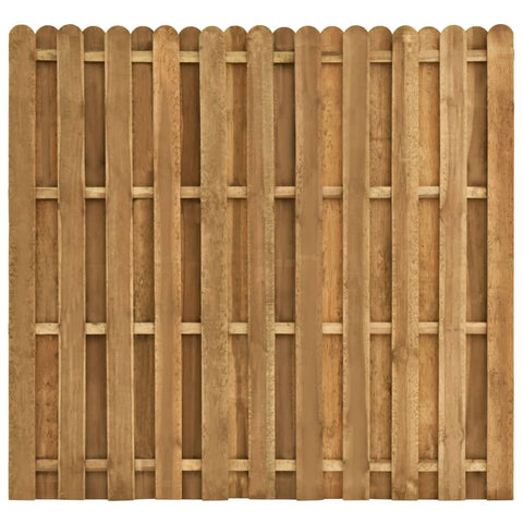 Hit and Miss Fence Panel Pinewood 180x170 cm