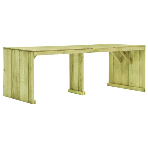 Garden Table 220x101.5x80 cm Impregnated Pinewood